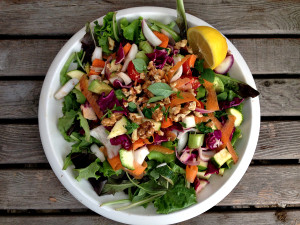 My Supper Salad - The reluctant Raw Foodist