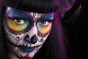 Rubbing Shoulders with Death: Sugar skull Make Up  _ Mexican Day Of the Dead
