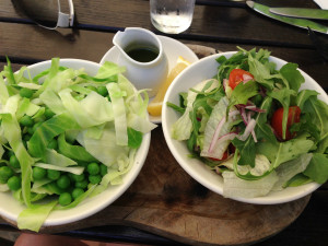 Daily salad when in a restaurant